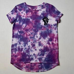 Custom BLM Tie-Dye Girls' Shirt